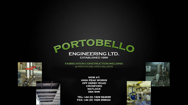 Portobello Engineering Limited - Fabrication Construction Welding & Pipework Specialists
